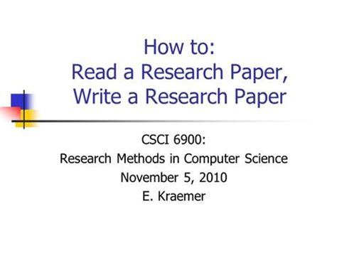 Write technical paper research